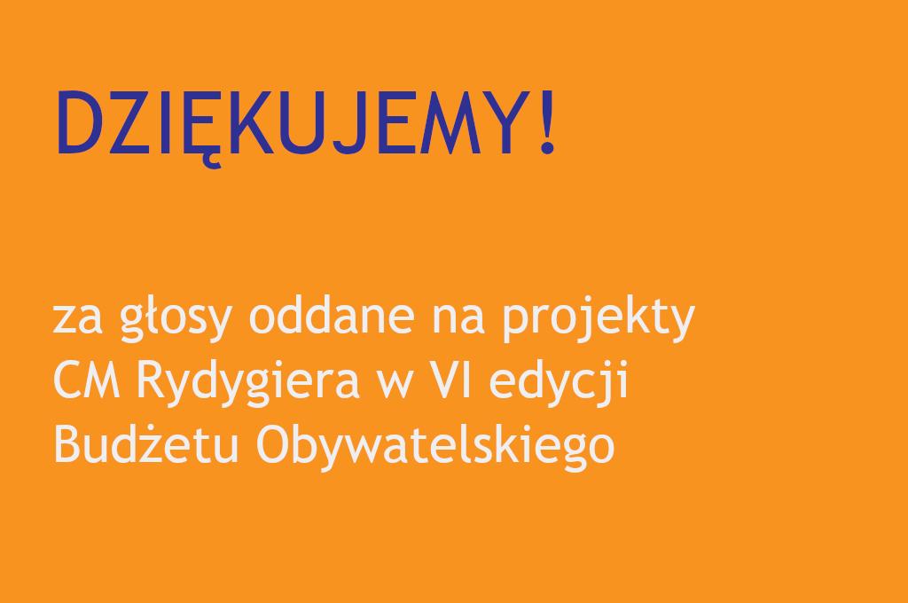 VI edycja Budżetu Obywatelskiego dla CM Rydygiera w Łodzi